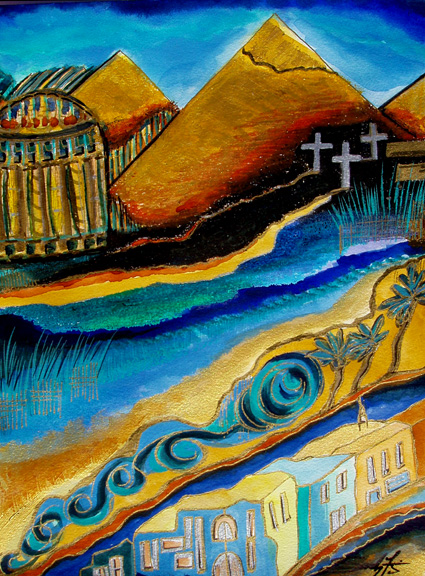 301 moved permanently for Egyptian mural paintings