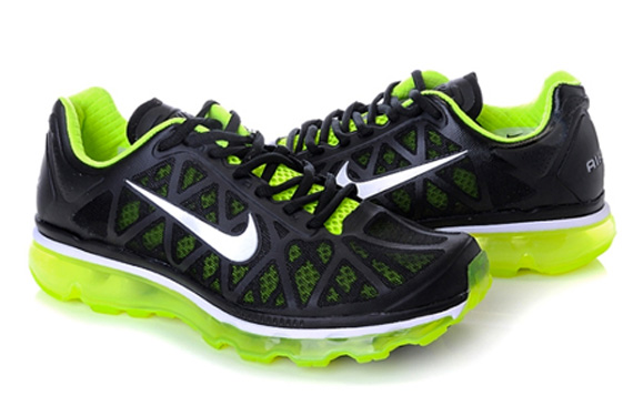 Nike Air Max 2011 GreenYellow Black Mens Running Trainers Shoes