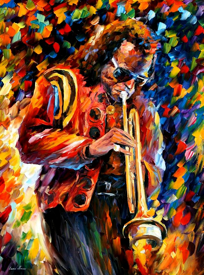Leonid Afremov Miles Davis Painting The Mind Of Sjb